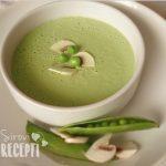 Sirova krem juha od mladog graška
