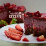Sirova rođendanska torta s jagodama